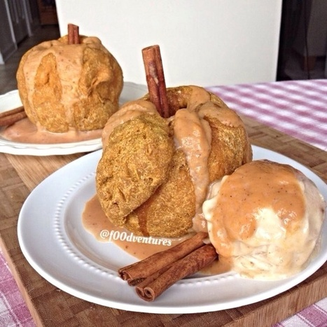 Speedy Vegan Apple Dumplings with Pumpkin Caramel Recipe | My Vegan recipes | Scoop.it