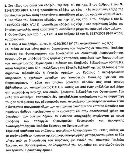 Ψηφίστηκε η διάταξη για τις βιβλιοθήκες από την αρμόδια Επιτροπή της Βουλής | esos.gr | Information Science | Scoop.it