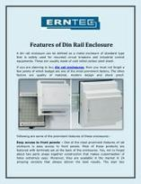 Features of Din Rail Enclosure   Erntec Pty Ltd   Scoop.it