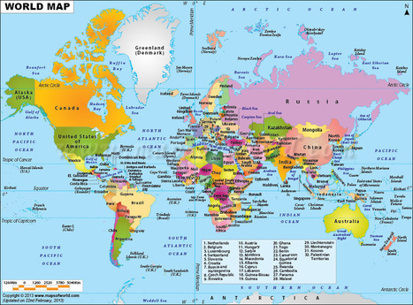 World Map | Geography | Scoop.it