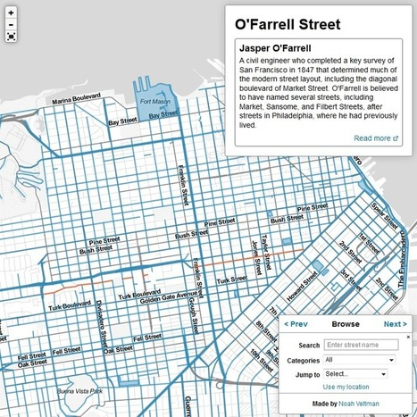 The History of San Francisco Place Names | Cartografia Digital | Scoop.it