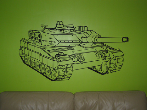 Tank wall sticker war tank wall graphics for boy bedroom decoration. | Illuminated mirrors | Scoop.it