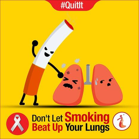 Don't let smoking beat up your lung… | Health Infographics | Scoop.it