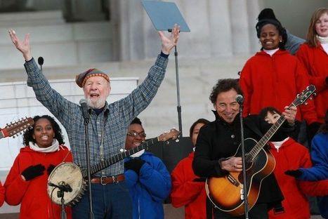 Pionnier de la musique folk, Pete Seeger est mort - Libération   Bruce Springsteen   Scoop.it