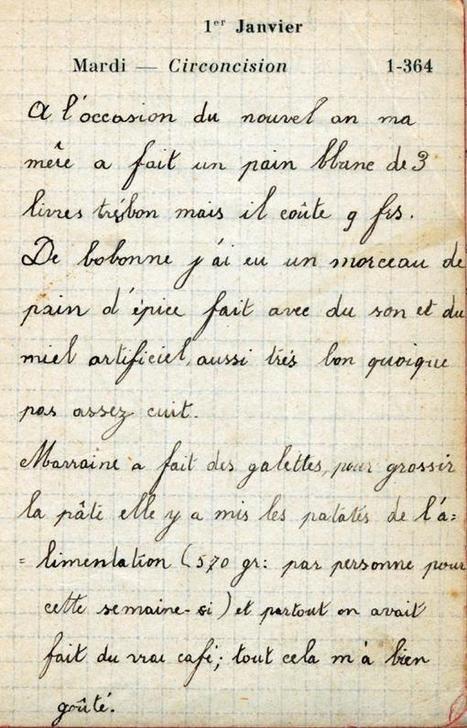 L'année 1918 vue par une fillette de 9 ans | Centenaire de la Première Guerre Mondiale | Scoop.it