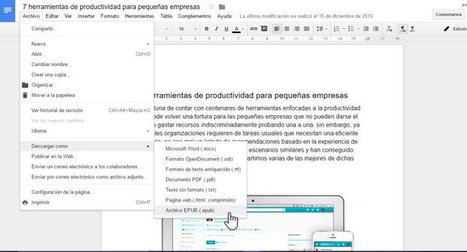 Para convertir un documento de Google en un libro digital (EPUB) | notícies TIC | Scoop.it