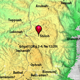Bible Map: Shiloh | historical sites in israel and biblical sources | Scoop.it