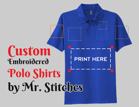 Custom Embroidered Polo Shirts by Mr. Stitches | Custom Embroidery | Scoop.it