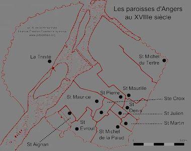 Les paroisses d'Angers au XVIIIe siècle  | Au hasard des archives... | Chroniques d'antan et d'ailleurs | Scoop.it