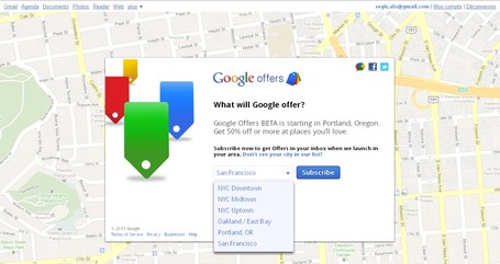 """Google Offers"" Liste des villes de la version BETA 