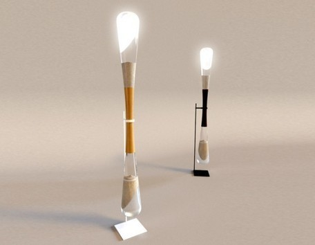 Danielle Trofe's Hourglass LED Lamps Use the Kinetic Power of Sand to Produce Light | Inhabitat New York City | Transición | Scoop.it