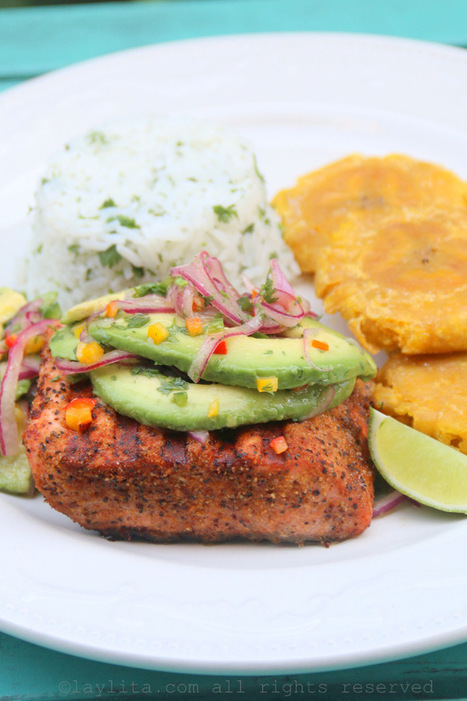 #HealthyRecipe : Grilled Salmon with Avocado Salsa | The Man With The Golden Tongs Goes All Out On Health | Scoop.it