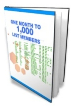 One Month To A 1000 List Members - Download Business | Building a new successful business while building a mailing list | Scoop.it