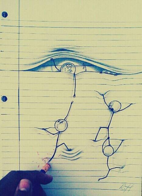 DIY Opal illusion Drawing on lined papertic | Social Media Marketing | Scoop.it