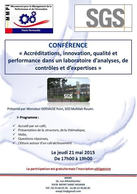 CONFERENCE SGS et Visite Laboratoire avec le MMPI  (Mouvement pour le Management de La Performance et de l' Innovation)   Expertscience   Scoop.it