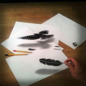 Optical Illusion: 3D Pencil Art by Ramon Bruin | Tech Nontech Magazine | Scoop.it