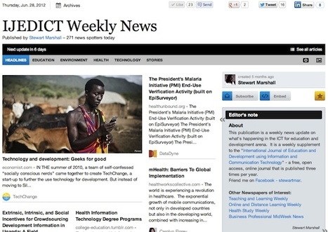 "June 28 - ""IJEDICT Weekly News"" is out 