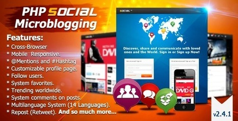 Codecanyon PHP Social Microblogging v2.4.1 | Download Free Full Scripts | uiouli | Scoop.it
