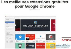 Les meilleures extensions Google #Chrome du moment | Time to Learn | Scoop.it