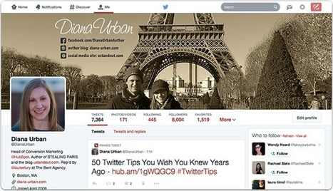 How to Update Your Twitter Profile Design & Size Your Header Photo | An Eye on New Media | Scoop.it