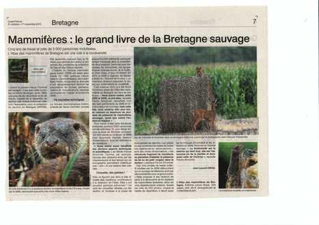 Mammifères: le grand livre de la Bretagne sauvage | Revue de presse du Groupe Mammalogique Breton | Scoop.it