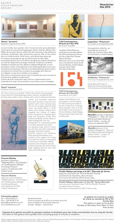 Newsletter Mai 2015 /// Galerie Cécile Fakhoury - Abidjan   Galerie Cécile Fakhoury - Abidjan   Scoop.it