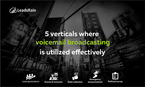 5 Verticals where voicemail broadcasting is utilized effectively | Cloud Based Auto Dialer | Scoop.it
