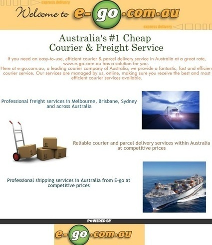 Professional Same Day Courier Delivery Services   e-go   Scoop.it
