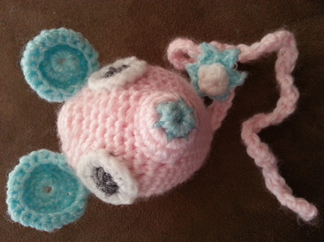 Completed: Baby Mouse Pacifier Holder and Toy   PKC Crochet   Scoop.it