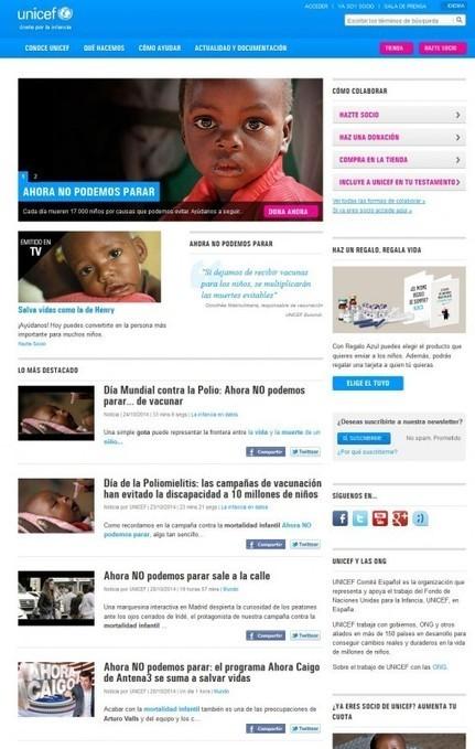 Evolución de las páginas web de las ONG | Web marketing pour le troisième secteur | Scoop.it