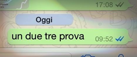 WhatsApp, ora si può disattivare la spunta blu - Il Post | Sms gratis | Scoop.it