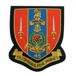 RM Royal Marine 45 Commando Embroidered blazer badges | Blazer Badges | Scoop.it