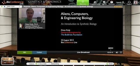 Watch Day 2 Now: Keynote Webcast with Drew Endy, Stanford - Aliens, Computers & Engineering Biology - An Introduction to Synthetic Biology | Bioinformatics Training | Scoop.it