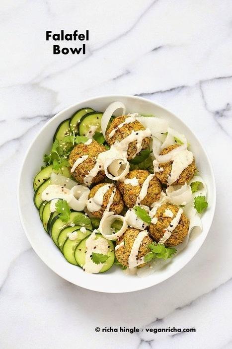 Lentil Split Pea Falafel Bowl with Tahini dressing. Vegan Gluten-free Soy-free Recipe | Vegan Richa | My Vegan recipes | Scoop.it