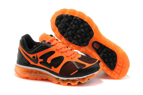 Mens Air Max 2012 Black Orange Shoes | want and share | Scoop.it