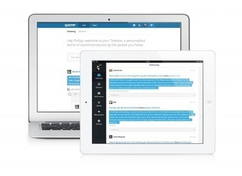 Quote.fm iPad-App | iPad:  mobile Living, Learning, Lurking, Working, Writing, Reading ... | Scoop.it