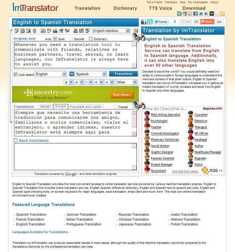 ImTranslator Translation Service   online translation   Scoop.it