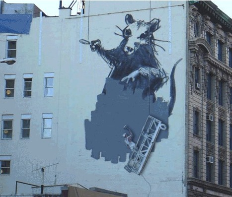 Banksy's subversive street art transformed into stunning GIFs | Street Protest Art | Scoop.it