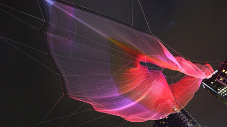 This massive floating web is art you can control from your phone | This is interactive art ! | Scoop.it