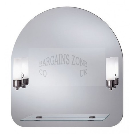 Illuminated crystal bathroom mirror with shelf 70cm x 73cm - Bargains Zone | Illuminated mirrors | Scoop.it