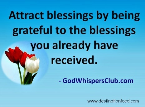 Quote for the Day: Being Grateful | Enrich | Scoop.it