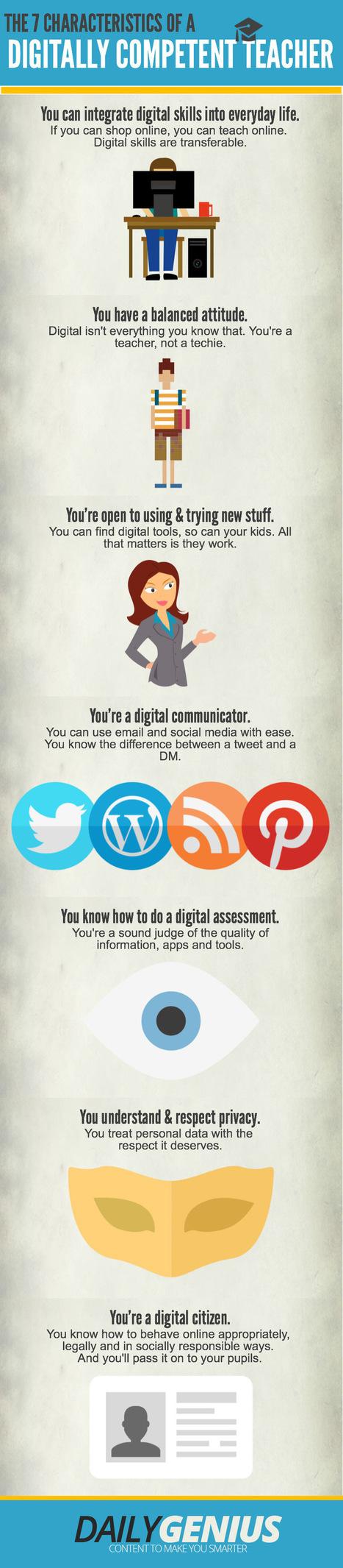 Ben jij een digitaal competente leerkracht? Dan heb je wellicht deze 7 eigenschappen (infografiek) | Onderwijs van morgen | Scoop.it