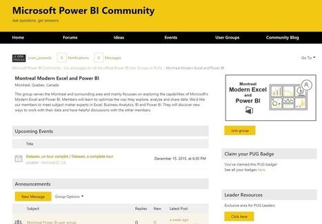 Joignez-vous à notre nouveau groupe d'usagers Excel et Power BI | Intelligence d'affaires | Scoop.it