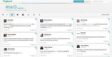 Free Technology for Teachers: Tagboard - Organization for Following Hashtags   Information Powerhouse   Scoop.it
