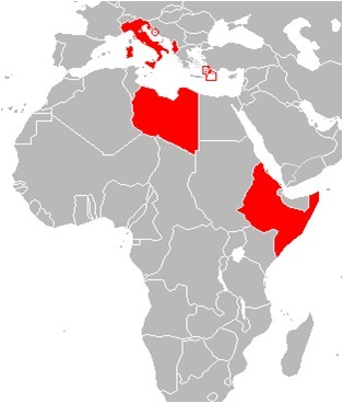 Mapa de Territorios Italianos Fascistas | Gráficos Crack | Scoop.it
