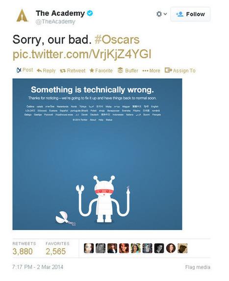 Academy Awards Apologizes for Breaking Twitter | Communication Advisory | Scoop.it