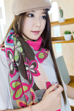 Wearing Silk Scarves is very much in fashion now days | Korean Fashion Style | Scoop.it