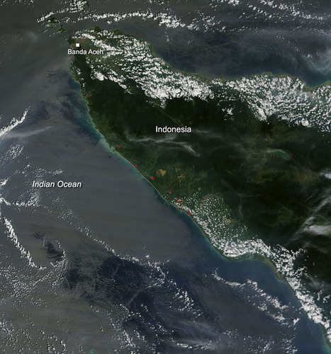 NASA image: Fires in Northern Sumatra | Sustain Our Earth | Scoop.it