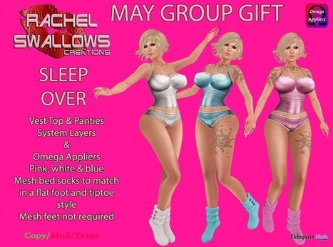 Sleep Over Outfit with Appliers May 2016 Group Gift by Rachel Swallows Creations | Teleport Hub - Second Life Freebies | Second Life Freebies | Scoop.it