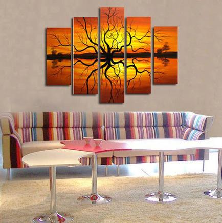 Decorar con cuadros tripticos imagui for Lienzos decorativos modernos